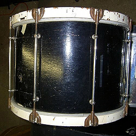 Example photograph of an old beater drum