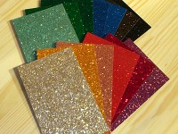 Glass Glitter drum wraps