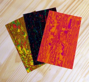 Fanned selection of Psychedelic Drum Wraps