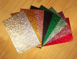 Fanned selection of Vintage Sparkle Drum Wraps