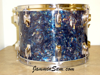 Photo of John Grupps' Tama drums with Dark Abalone Pearl (2)