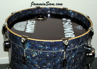 Photo of Paul Collinson's Sonor drums with Dark Abalone Pearl (1)