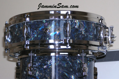 Photo of Paul Collinson's Sonor drums with Dark Abalone Pearl (4)