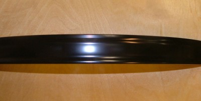 example photo of our steel bass hoops with black powder coating