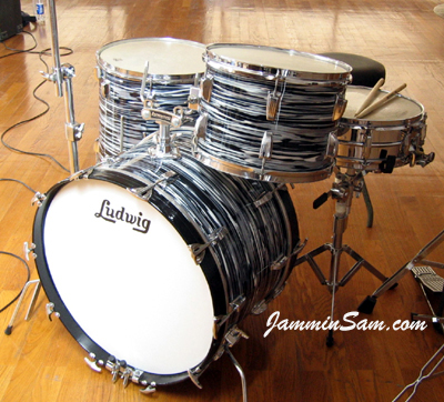 Photo of Damjan Dasic's Ludwig drums with Retro Black Oyster Pearl (2)