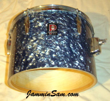 Photo of Will Jenkins' Premier tom with Black Diamond Pearl (Old) drum wrap (3)