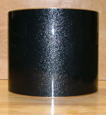 Drum Wrap Material: Example close-up of Black Vintage Sparkle
