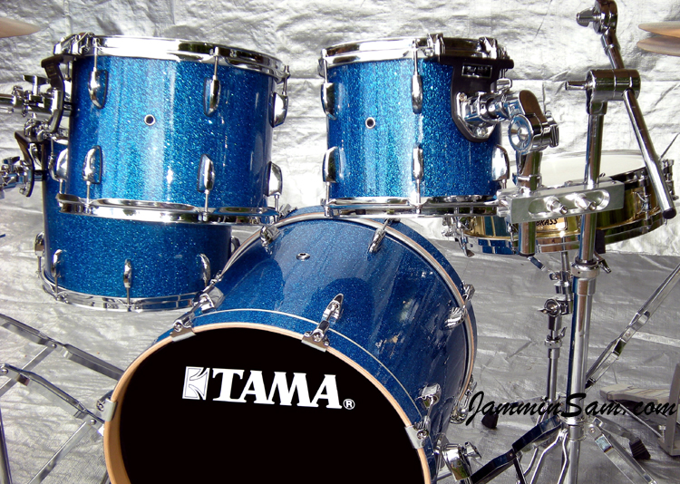 Blue Glass Glitter On Drums