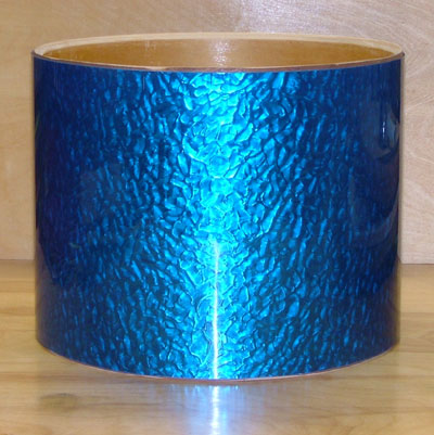 Drum Wrap Material: Example of Blue Metal