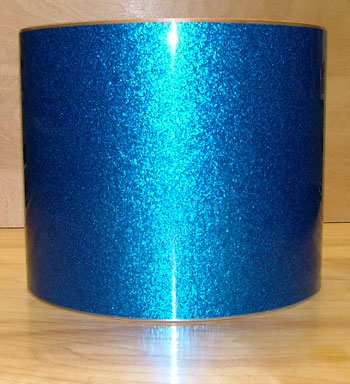 Drum Wrap Material: Example close-up of Vintage Sparkle Blue