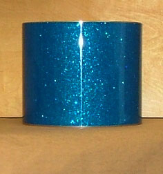 Drum Wrap Material: Example scan of Deep Blue Glass Glitter