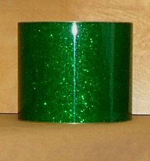 Drum Wrap Material: Example scan of Deep Green Glass Glitter