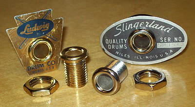 photo of Machined (threaded) eyelet w/ nut for vintage drums