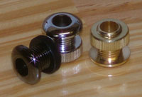 photo of our Heavy Duty Cast Metal Threaded Eyelets for drums in three finishes