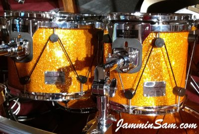 Photo of Jeffrey Hudson's drum project with Gold Glass Glitter from Jammin Sam (64)