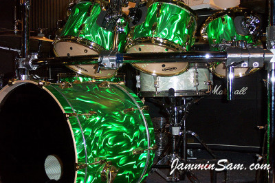 Photo of Garrett Lucht's drums with Green Satin (8)