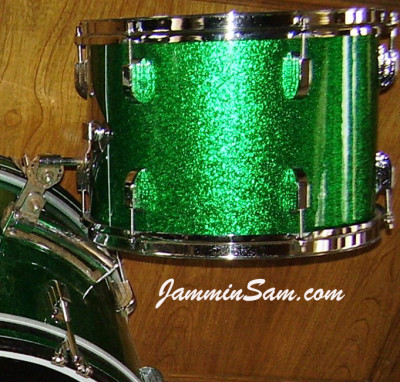 Photo of Howard Friedman's Leedy kit with Vintage Green Sparkle (2)