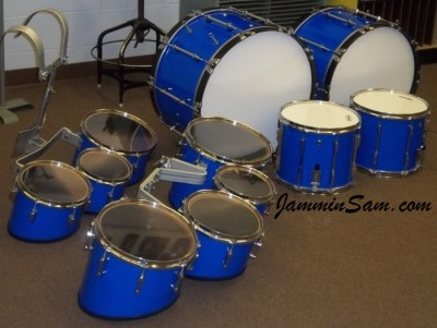 Photo of William Haselwood's Mapex drum project for the Cherryvale Middle/High School Marching Band