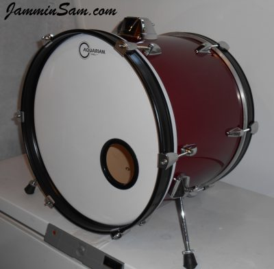 Photo of Ray Kenny's set of Tama drums with JS Deep Red drum wrap (2)