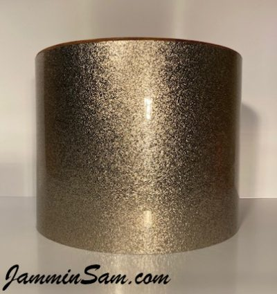 Photo of JamminSam's marching tom with JS Copper Sparkle drum wrap (29)