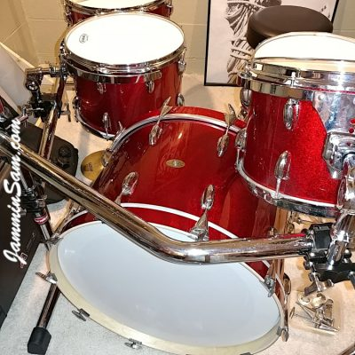 Photos of vintage Slingerland drums from Keith Workman with JS Sparkle Red (28)
