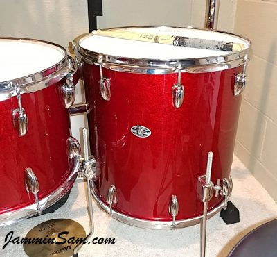 Photos of vintage Slingerland drums from Keith Workman with JS Sparkle Red (50)