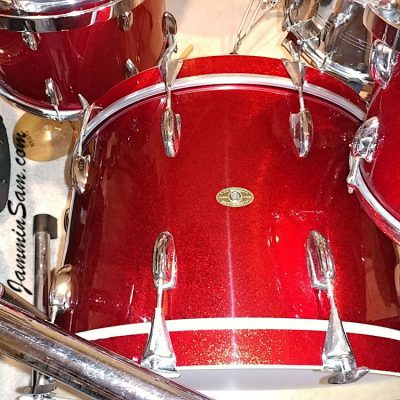 Photos of vintage Slingerland drums from Keith Workman with JS Sparkle Red (51)