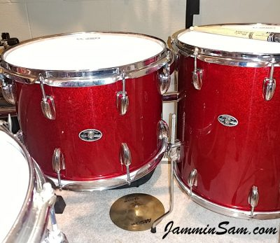 Photos of vintage Slingerland drums from Keith Workman with JS Sparkle Red (55)