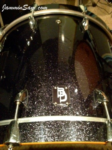 Photo of Jake Fiedler's drums with JS Sparkle Gold drum wrap (59)