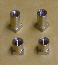 photo of our lug inserts (chrome)