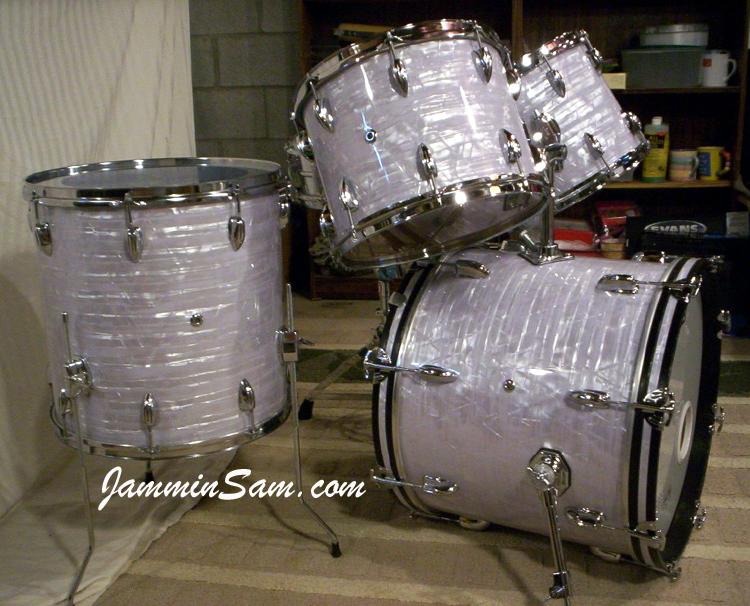 Vintage Marine Pearl On Drums Jammin Sam