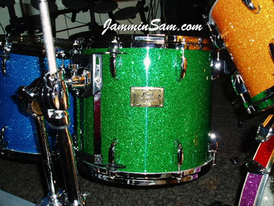 Photo of a tom in Bill Heitman's multiglass drum kit