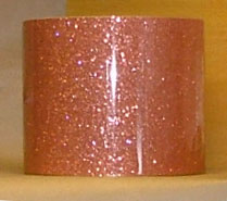Drum Wrap Material: Example of Pink Glass Glitter on a drum shell also known as crushed glass.