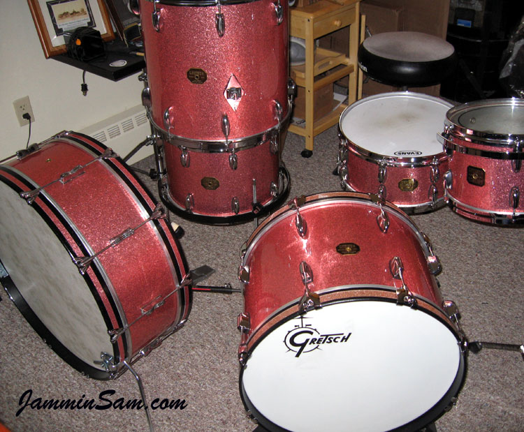 pink vintage sparkle on drums page 3 jammin sam. Black Bedroom Furniture Sets. Home Design Ideas
