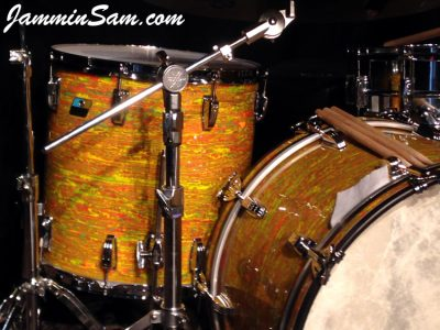 Photo of Iain Rose's vintage Ludwig drum set with Psychedelic Citrus Mod (41)