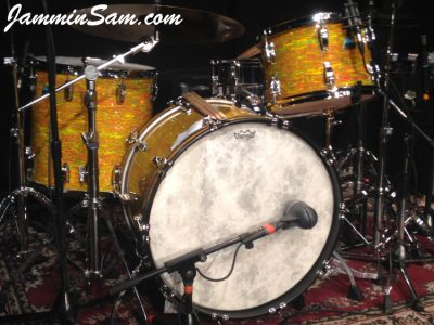 Photo of Iain Rose's vintage Ludwig drum set with Psychedelic Citrus Mod (50)