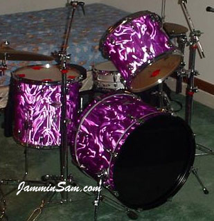purple satin flame on drums jammin sam. Black Bedroom Furniture Sets. Home Design Ideas