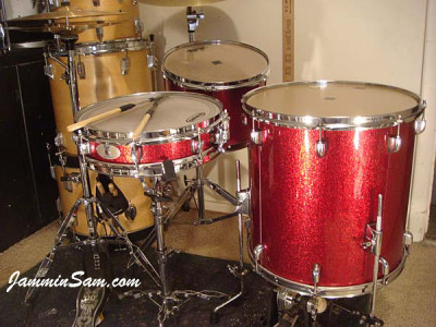 Photo of Don Thorpe's cocktail kit with Red Vintage Sparkle drum wrap (1)