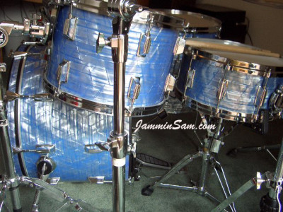 Photo of Jim Moody's Pearl drums with Retro Sky Blue Pearl (2)