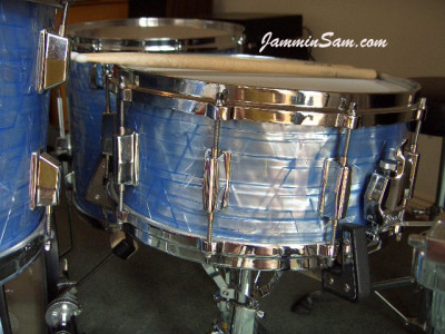 Photo of Jim Moody's Pearl drums with Retro Sky Blue Pearl (3)