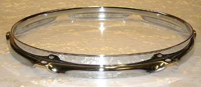6 Lug, Triple flanged, chrome Tom or Snare Rim