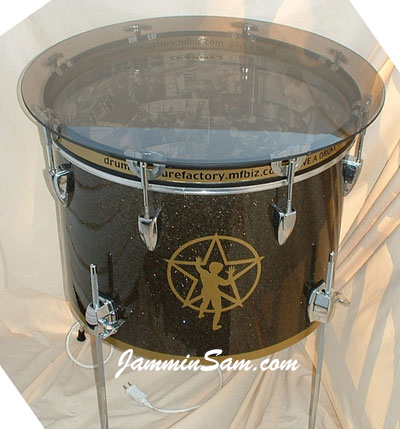 Photo of Neil Pert's custom project with Rootbeer Glass Glitter drum wrap (1)