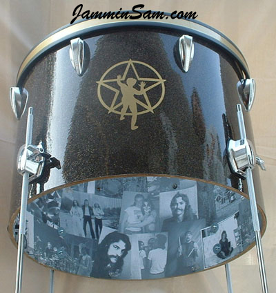 Photo of Neil Pert's custom project with Rootbeer Glass Glitter drum wrap (2)