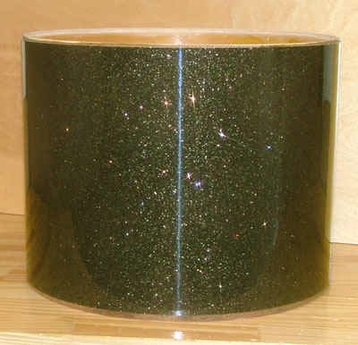Drum Wrap Material: Example of Root Beer Glass Glitter (Formerly Black Smoke)