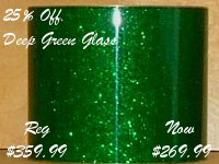 Deep Green Glass Glitter (on sale 25% off)