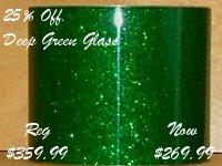 Deep Green Glass Glitter (on sale 25% off)