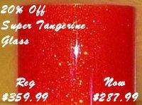 Super Tangerine Glass Glitter (on sale 20% off)