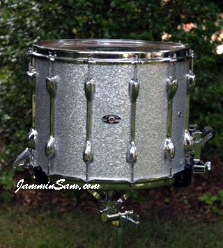 Photo of Jim MacConduibh's Slingerland Snare with Silver Vintage Sparkle drum wrap