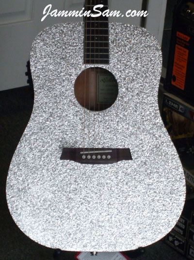 Photo of Kevin Majka's Guitar with Silver Vintage Sparkle wrap