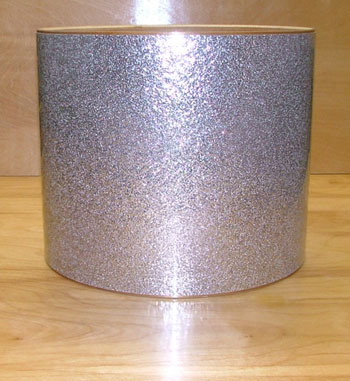 Drum Wrap Material: Example close-up of Vintage Silver Sparkle